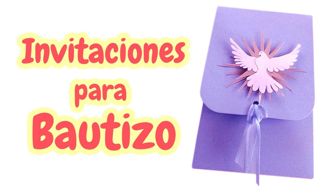 40 Invitaciones Para Bautizo Muy Bellas Hd