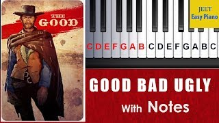 easy piano songs for beginners  the good the bad and the ugly theme piano tutorial