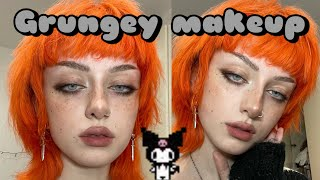 Grunge makeup tutorial (quick n easy) ☠️ad