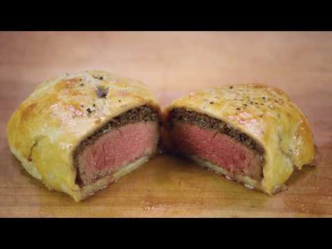 Grass Fed Gluten Free Beef Wellington with Bacon Jam (ButcherBox Filet Mignon | Sear; Roast)