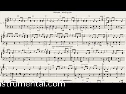 Kissing you piano sheet