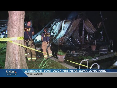 Austin Fire Investigating Boat Dock Fire On Lake Austin
