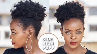 How To| High Side Afro Puff on Natural Hair
