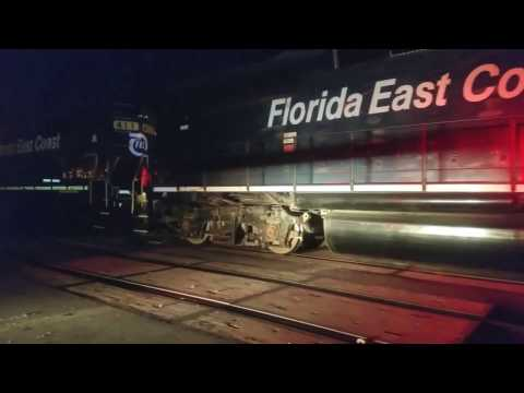 First Brightline train set arrival at West Palm Beach