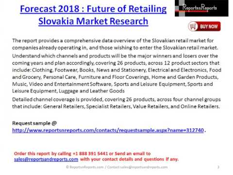 Research Report On Future of Retailing Slovakia Market