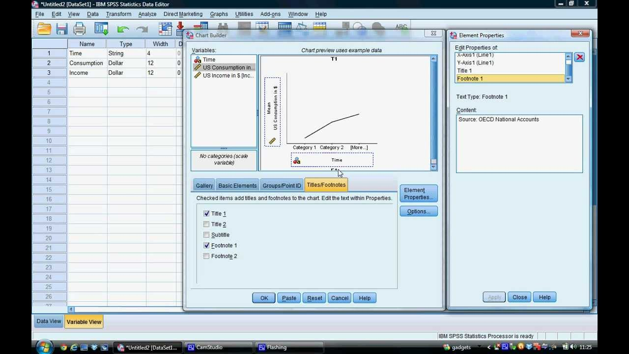 Tutorial 3 - Geneating Line Graphs in SPSS - YouTube