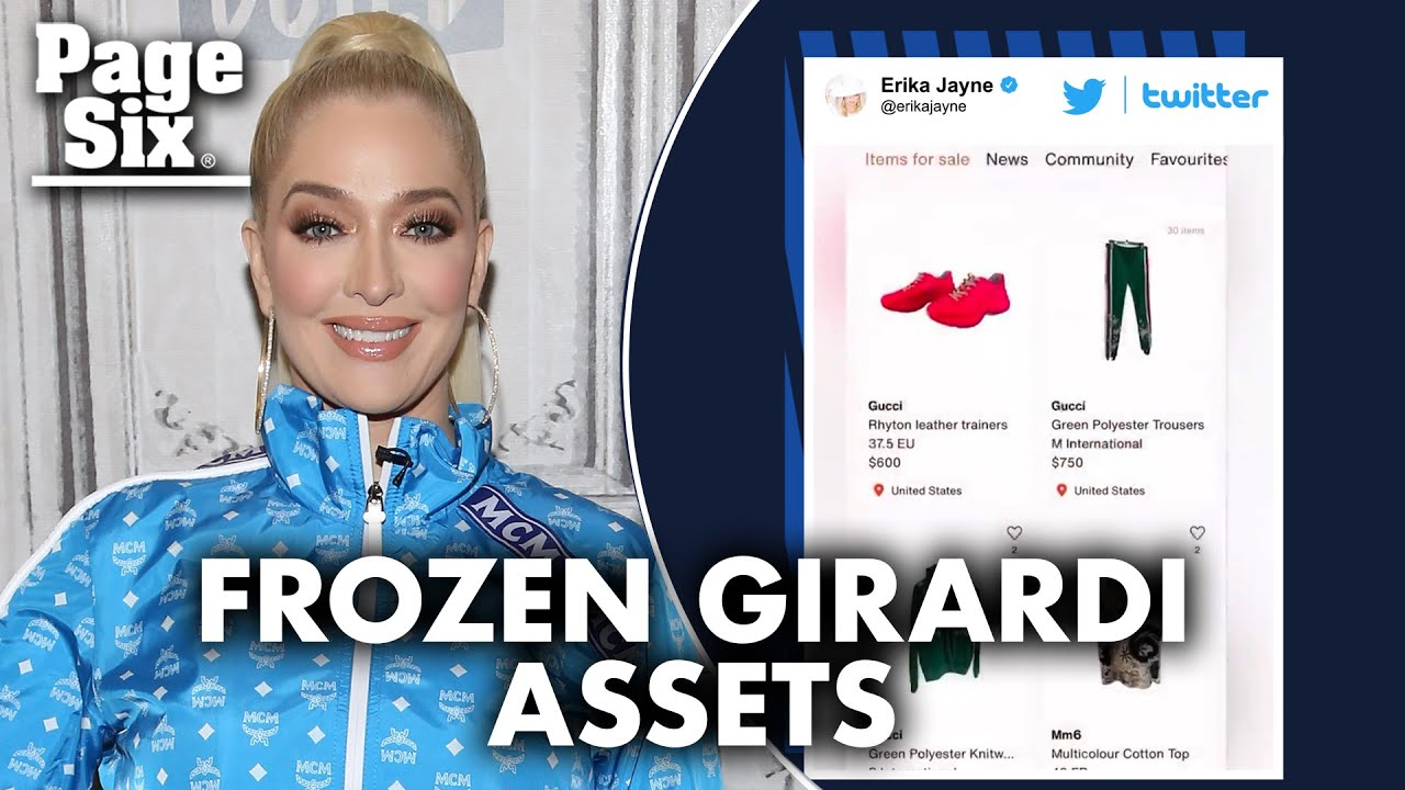 Erika Jayne asked to stop selling clothes amid Tom Girardi asset ...