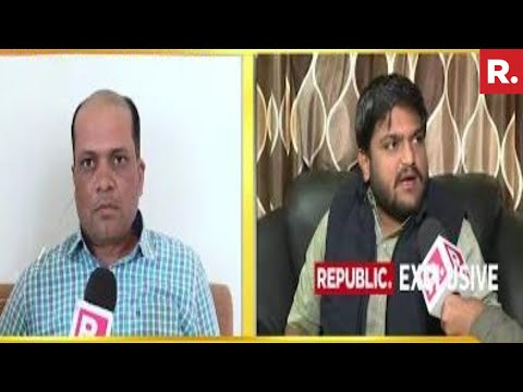 Republic TV Confronts Hardik Patel Over His Robert Vadra Meet