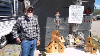 Wood Bird Houses Camping Fishing At Devil Creek Reservoir Malad Idaho