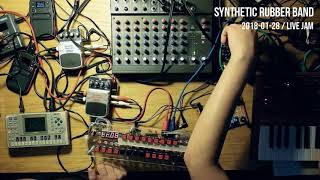 Synthetic Rubber Band - synth jam session with DIY sequencer - hardware only