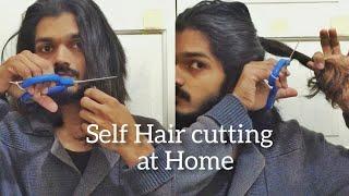 Self Haircut at H๐me - Long Hair Men | My own Hair #haircut #longhair #self