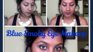 Smoky Blue Eye Makeup Thumbnail
