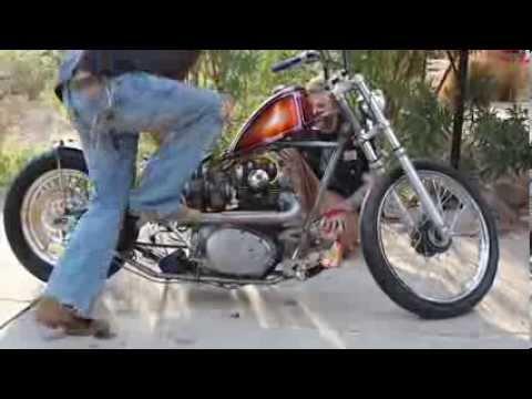 Motorcycle Kick starting, kick starting, and more kick starting...