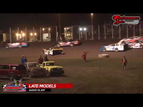 Performance Auto Late Model Highlights - August 25, 2017 - River Cities Speedway