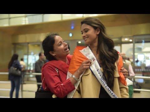 Miss India Universe 2017 Shraddha Shashidhar Leaves For Miss Universe 2017