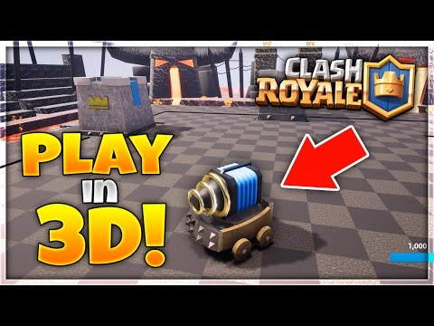 "HOW TO PLAY ""Clash Royale"" in 3D! 