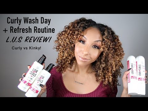 Curly Wash Day + Refresh Routine! L.U.S Brand Review! | BiancaReneeToday