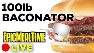 CANADIAN HEROES MAKE A 100lb BACONATOR LIVE NOW!!!