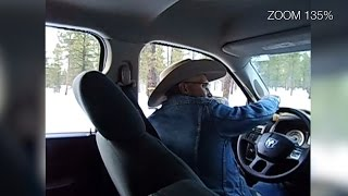 Shawna Cox cell phone video from inside LaVoy Finicum's truck