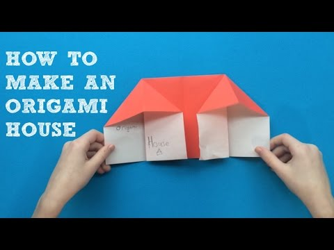 How To Make An Origami House EASY
