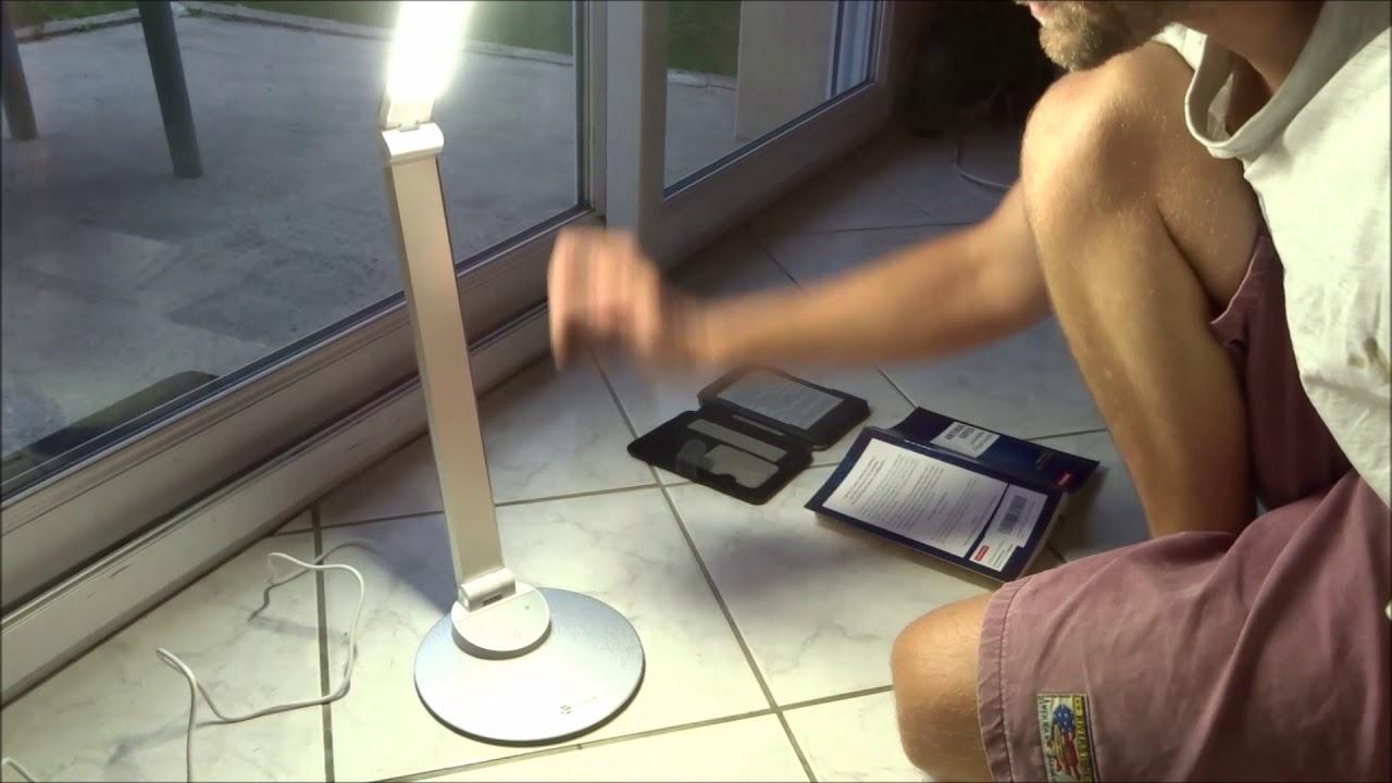 Lampe De Bureau Led Avec Thermometre Heure Et Date Ivso Lampes De
