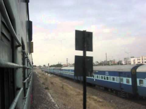 Parallel Action Of Barmer Kalka Chandigarh Express And Jaipur Beekaner Intercity Near Beekaner Jn.