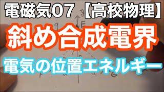 電磁気07<電界・電位問題②>【高校物理基礎・物理】