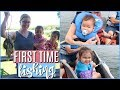 The Girls' First Time Fishing   CABIN LIFE   FAMILY VLOG