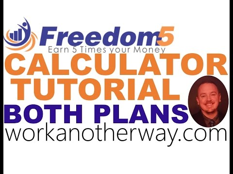 Freedom5 / Freedom 5 Calculator Tutorial Revshare Strategy Review with Paul Graue