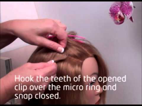 How to wear Clip-In Hair Extensions with Micro Rings Beads for NO SLIP! Locks & Bonds