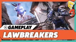 LawBreakers - Winning A Full Blitzball Match Gameplay | E3 2017