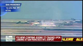 America : Boeing 777 Asiana Flight from Korea crashes at San Francisco Intl Airport (Jul 06, 2013)
