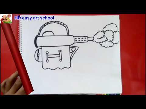 #DengueFlyKillerGun#art How to  draw a mosquito  killer gunstock easily,মাশা মারা কামান আঁকার নিয়ম