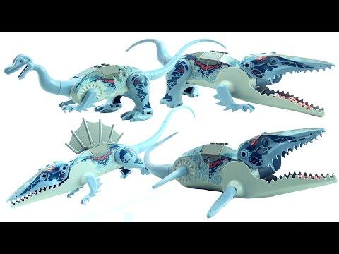 Download Youtube: 4 LEGO DInosaurs 6721 Mosasaurus - Postosuchus Iguanodon Dimetrodon - Lego Dinosaur Speed Build