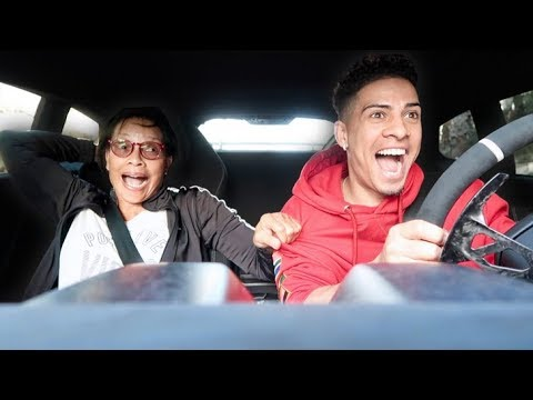 GRANDMA REACTS TO LAMBORGHINI LAUNCH!!! (HILARIOUS)