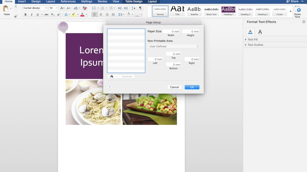 How to fix pdf problem in word 2017 (Mac)