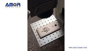 Fiber laser marking machine engraving on the phone case