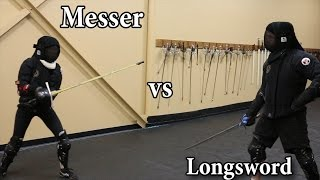 Messer vs Longsword (w/ Commentary) - Sparring Showcase