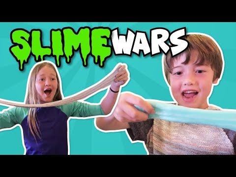 SLIME WARS CHALLENGE // Boys VS Girls // Who won?