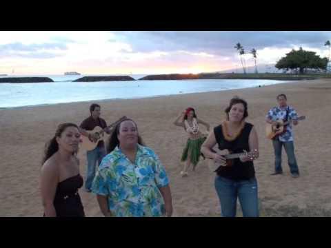 Na Leo sings Do The Hula on the Beach with Miss Hawaii USA Aureana Tseu