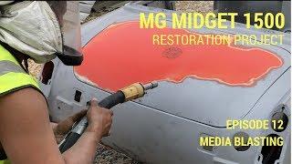 MG Midget 1500 Restoration - Media Blasting