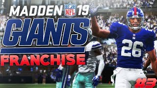 Saquon Barkley Waves at Cowboys Fans! Madden 19 New York Giants Franchise Ep. 3