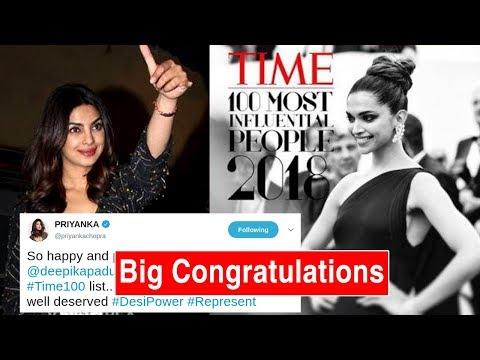 Priyanka Chopra CONGRATULATES Deepika Padukone For Times 100 Most Influential People List