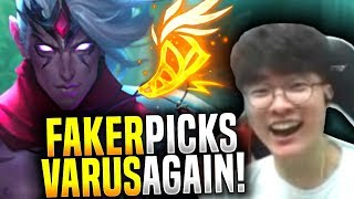 Faker is Good with Everything! - SKT T1 Faker Brings Back his Varus! | SKT T1 Replays