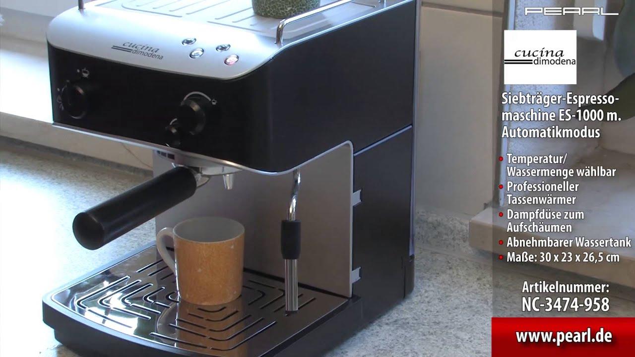 Cucina di Modena Siebträger-Espressomaschine ES-1000 m ...