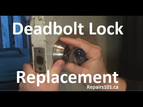 Deadbolt Lock Replacement Youtube