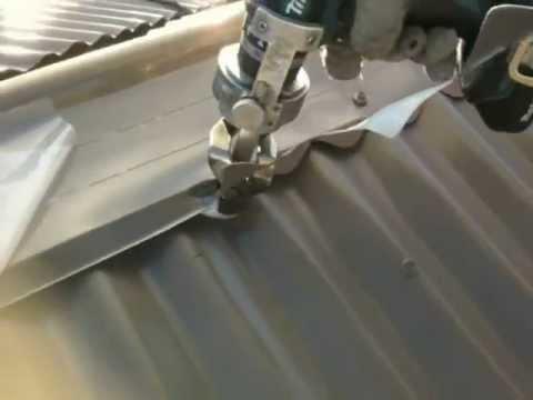Sheet Metal Shears Scribing By Powersnips Youtube