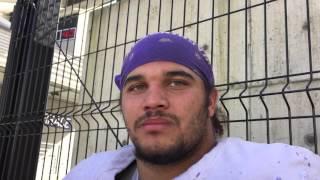 DL Elijah Qualls talks about his boxing background