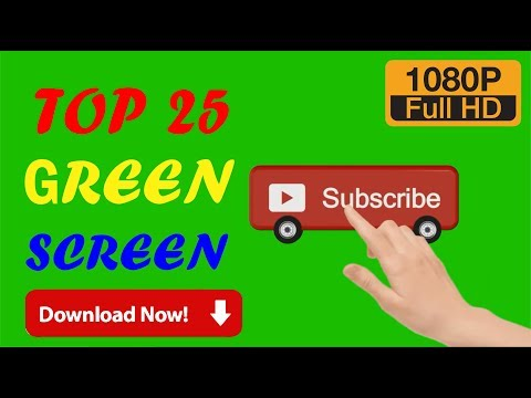 Top 25 No Copyright GREEN SCREEN SUBSCRIBE BUTTON AND BELL ICON 2020