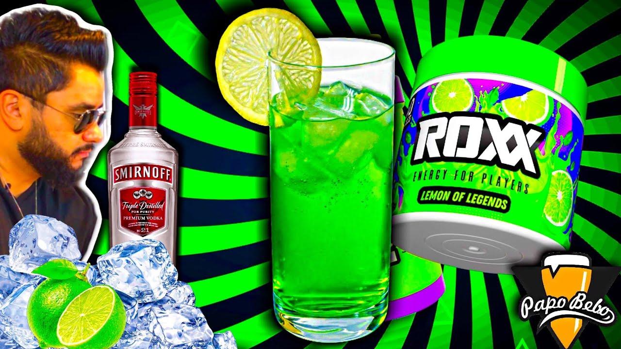 CAIPIROSKA DE LIMÃO Energética - COMO FAZER com Vodka Smirnoff e Roxx Energy Drink